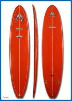 "8'1"" Carver Red with White Pin Line"